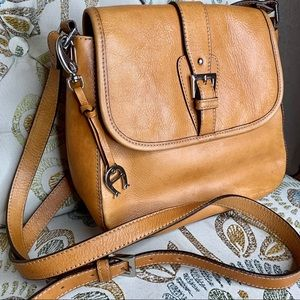 Etienne Aigner Tan Cognac Brown Leather Bag